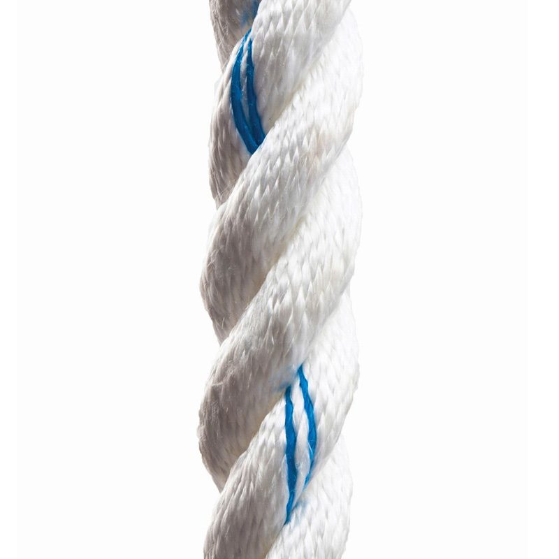 3-Strand Twisted White Poly Dacron Rope